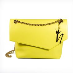 yellow leather bags Made in Italy