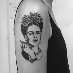 Frida by Lydia Marier (via IG-lmariera) #ladyhead #black #illustrative #artist #fridakahlo #portrait #girlsgirlsgirls #LydiaMarier