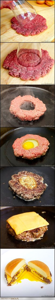 Hamburger with egg and minced meat | Kawcia.pl