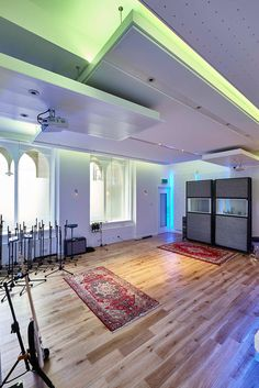 Paul Epworth's The Church Studios London UK Renovated Recording Studio designed @wsdgacoustics & installed @milocostudios RPG products used: RPG BAD Expo & Spigo acoustic wood panels all in white. Photo By: @adamcoupe #acoustic #rpg #bad @spigogroup