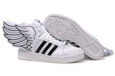 super popular 6e13b 73a99 Adidas Jeremy Scott Wings 2.0 White Black Shoes Shoes Online, Athletic  Shoes, Adidas Kids