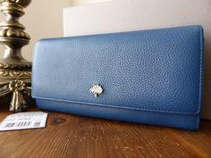 Mulberry Tree Continental Wallet in Sea Blue Small Classic Grain > http://www.npnbags.co.uk/naughtipidginsnestshop/prod_4914231-Mulberry-Tree-Continental-Wallet-in-Sea-Blue-Small-Classic-Grain.html