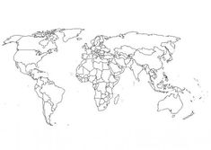 Best Photos of World Map Full Page Printable - Full Page Printable World Map, Printable Color World Map and Blank World Map Coloring Page Free Printable World Map, World Map Template, Printable Maps, Printable Worksheets, Easy Coloring Pages, Animal Coloring Pages, Printable Coloring Pages, Coloring Books, Free Coloring