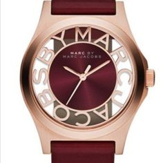 Marc by Marc Jacobs Ladies' Maroon Rose Gold Henry Skeleton Watch in Jewellery & Watches Marc Jacobs Uhr, Marc Jacobs Watch, Bordeaux, Pantone, Skeleton Watches, Beautiful Watches, Rose Gold Plates, Fashion Watches, Cool Watches