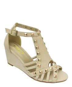 Take+a+look+at+the+Beige+Studded+Lana+Sandal+on+#zulily+today!