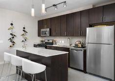 Rental Beast Oak Park Illinois, Wide Plank Flooring, Bike Storage, Granite Counters, Closet Space, Kitchen Cabinets, Dining Room, Table, Furniture