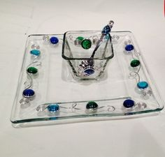 Beaded Serving Set #1 by CraftyGalsCreate on Etsy