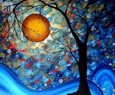 Print Megan Aroon Duncanson Art BLUE ESSENCE Painting at ArtistRising.com