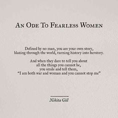 30 Powerful Quotes From Poet & Author Nikita Gill, Including An Exclusive Interview On Her Newest Book, 'Fierce Fairytales' - poetry Nikita Gill, Fearless Quotes, Self Love Quotes, Quotes To Live By, Fierce Women Quotes, Inspirational Poetry Quotes, Positive Quotes, Quotes From Books, Famous Poetry Quotes