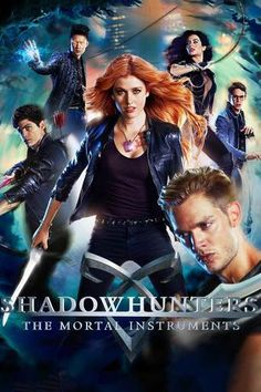 """Shadowhunters Tv Series is loosely based on a book series """"The Mortal Instruments"""" written by Cassandra Clare Shadowhunters Poster, Shadowhunters Clary And Jace, Jace Lightwood, Shadowhunters The Mortal Instruments, Isabelle Lightwood, Clary Fray, Clary Y Jace, Katherine Mcnamara, City Of Bones"""