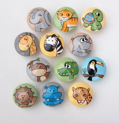 Hand Painted Animal Drawer Pulls / Dresser Knobs for by CariBimbi