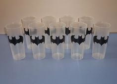 Minimandy. Vasos. Batman. Candy Bar.