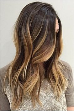 medium length straight brunette ombre hair
