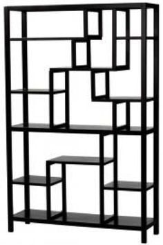 """Mad Men Party Decor. 60's inspired. Home Decorators Parsons Display Shelf  Size: 62""""HX40""""WX12""""  Material/Description: Quality crafted of poplar wood with a smooth finish. (Black)    Quantity: 3  Price:  $189.50 each"""