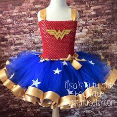 Tutu de mujer maravilla Wonder Woman Vestido de por LisasTutus                                                                                                                                                     Más