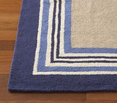 Tailored Striped Rug in Blue