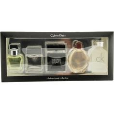CALVIN KLEIN VARIETY Gift Set CALVIN KLEIN VARIETY by Calvin Klein by Calvin Klein. $54.99. SET-5 PIECE MENS MINI VARIETY WITH OBSESSION & ETERNITY & EUPHORIA MEN & CK ONE & CALVIN KLEIN MAN AND ALL ARE .33 OZ EDT Design House: Calvin Klein Fragrance Notes: Fragrances Include Notes Of Greens Crisp Jasmine Sage Basil And Rosewood Very Refreshing And Crisp; Lime Leaves Sage Nutmeg Vetiver And Sandalwood; Mandarin And Spice With Low Tones Of Musk Sandalwood And Amber