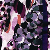 Purple Passions Rayon Jersey - Purple/Gray/Persimmon $20/yd