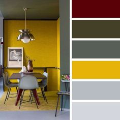 14 ideas Brighten up your room with yellow mustard color , grey and mustard #color #mustard