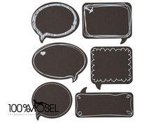24 Tafeletiketten - Chalkboard Sticker Sprechblase von 100%Mosel auf DaWanda.com