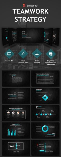 Teamwork Strategy - #PowerPoint Templates #Presentation Templates Download here: https://graphicriver.net/item/teamwork-strategy/19760127?ref=alena994