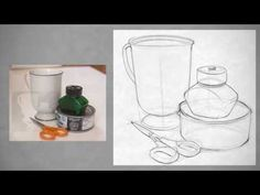 Drawing Shape - Simple Still Life Basic Drawing, Drawing Skills, Drawing Lessons, Easy Still Life Drawing, Still Life Art, Teaching Drawing, Teaching Art, Pencil Drawing Tutorials, Art Tutorials