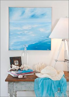 seaside art - Add a touch of beach chic to your home with this wonderful seaside artwork. Easy to make with this step by step guide.