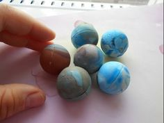 preparation for round hollow beads (Cooked on marbles) #Polymer #Clay #Tutorials