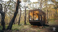 Unplug at This Off-Grid Tiny Home in South Australia - House Architecture Tiny Cabins, Tiny House Cabin, Tiny House Living, Tiny House On Wheels, Off Grid Tiny House, Modern Cabins, Prefab Tiny Houses, Off Grid Cabin, Cob Houses