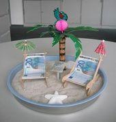 Geld verschenken 10 besonders kreative Ideen For the honeymoon or just the next vacation :) Homemade Gifts, Diy Gifts, Don D'argent, Christmas Gift Wrapping, Cool Diy, Party Gifts, Wedding Gifts, Wedding Blog, Diy Wedding