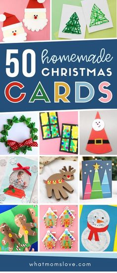 The BEST ideas for homemade DIY Christmas cards that kids can make. Craft creative holiday cards with handprints, pop ups, photos and more! Christmas Poems, Christmas Cards To Make, Christmas Activities, Christmas Crafts For Kids, Handmade Christmas, Christmas Diy, Winter Activities, Christmas Goodies, Kid Crafts