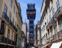 Aussichtspunkte von Lissabon, Elevador de Santa Justa mit Aussichtsplattform