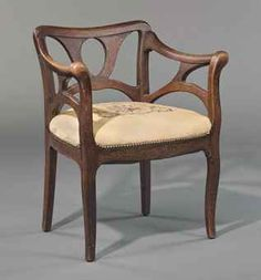 ATTRIBUTED TO BERNHARD PANKOK (1872-1943) AN ARMCHAIR, CIRCA 1900