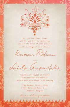 Wedding invitations cards wedding dress wedding invitations indian wedding invitations the laila rustic by starboardpress stopboris Gallery