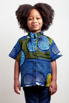 Boy's African Print Shirt via Amédée's handmade fun clothing and practical accessories.. Click on the image to see more!