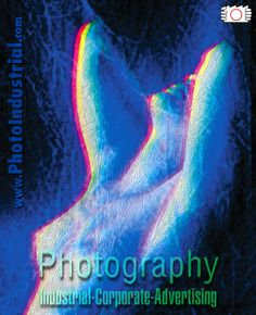 Black and white photo of naked woman with color effect.