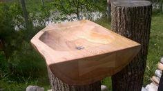 Oak hand made sink.