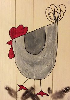 Best Indoor Garden Ideas for 2020 - Modern Chicken Crafts, Chicken Art, Art Fantaisiste, Chicken Quilt, Rooster Painting, Chickens And Roosters, Country Paintings, Easter Crafts, Easter Art