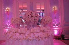 The ultimate top table! White roses and orchids by MJV at The Savoy Head Table Decor, Head Tables, Table Decorations, Winning London, Elegant Centerpieces, White Wedding Flowers, Sweetheart Table, London Wedding, Embedded Image Permalink