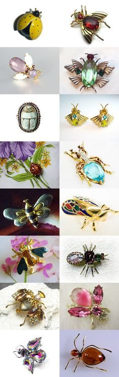 Putting A Bug In Your Ear #voguet #vintage #jewelry. Congratulations, Tann of PopcornVintage, Shop of the Day at Vintage Vogue Team!   Please visit these awesome shops for fabulous finds. Enjoy!  Curator: Betty J. Powell from https://www.etsy.com/shop/PlumsandHoney