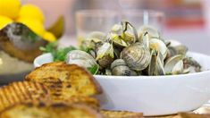 Steamed clams with grilled garlic sourdough pleases a crowd, saves you time