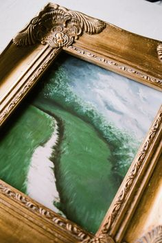 Gold Gilded frame for landscape portrait print by Jaime Arlene Gold Gilding, Beautiful Stories, Inspiration Wall, Summer Art, Artist Painting, Spring Collection, Paintings For Sale, Frames On Wall, Lovers Art
