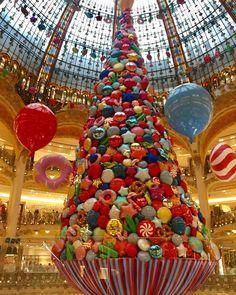 "GALERIES LAFAYETTE, Paris, France, ""The Sweet Christmas Tree"""