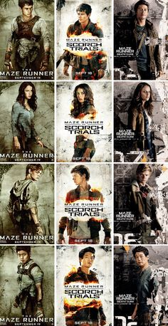 Maze Runner series promotional pictures