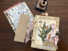 Thanks for joining Leo and I! Today we make three interior bag pages for our ring bound journal. Journal Vintage, Homemade Journal, Glue Book, Fabric Journals, Junk Journal, Journal Art, Art Journal Techniques, Creative Journal, Ring Binder