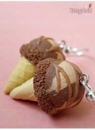 Chocolate Ice cream scoop on a cone