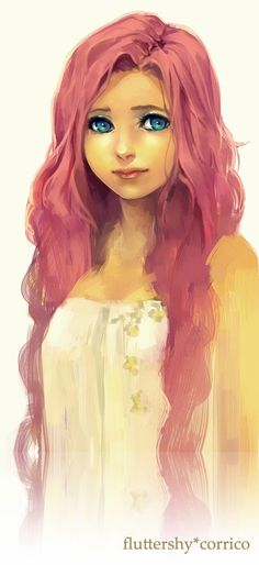 Fluttershy humanized http://corrico.deviantart.com/gallery/#/d5skfei I found a MLP board...I apologize for the next couple days to my non brony friends