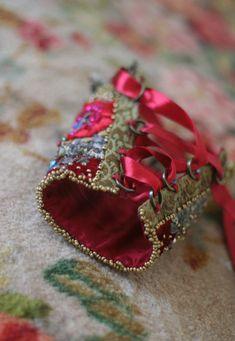 1600 romantic bold wrist wrap gauntlet from by FleursBoheme