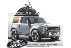 Land Rover Defender DC100 concept - modified with new front end, added Land Rover ruggedness