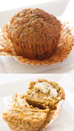 Carrot zucchini muffins are so yummy sprinkled with cinnamon sugar! This recipe is perfect for extra zucchini squash in the summer. Zucchini Bread Muffins, Zucchini Muffin Recipes, Zucchini Bread Recipes, Healthy Muffins, Pineapple Zucchini Muffins, Muffin Recipies, Banana Carrot Muffins, Vegetable Muffins, Zucchini Desserts